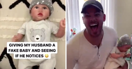 fake baby prank