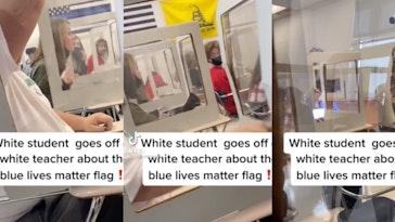 student-berates-teacher-blue-lives-matter-flag