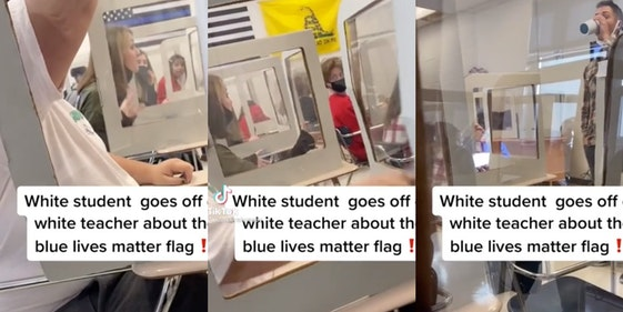 student-berates-teacher-blue-lives-matter-flag