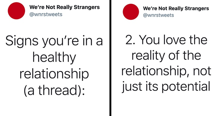 signs you're in a healthy relationship