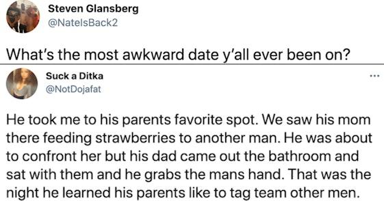 awkward date, awkward date stories, most awkward date stories