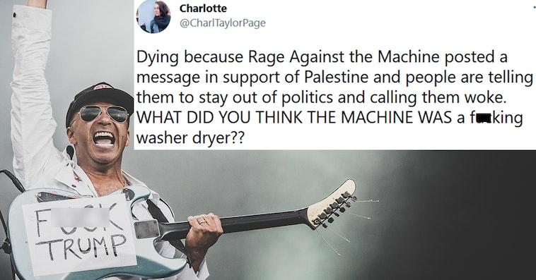 rage against the machine palestine