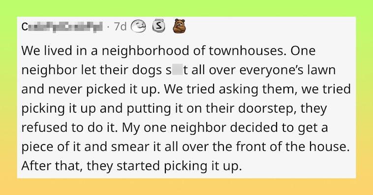 neighbor revenge