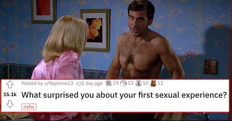 first sexual experience askreddit